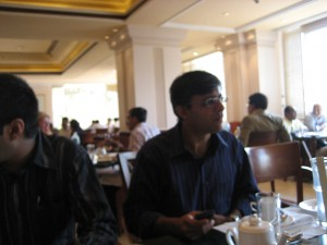 Sumeet during the interaction