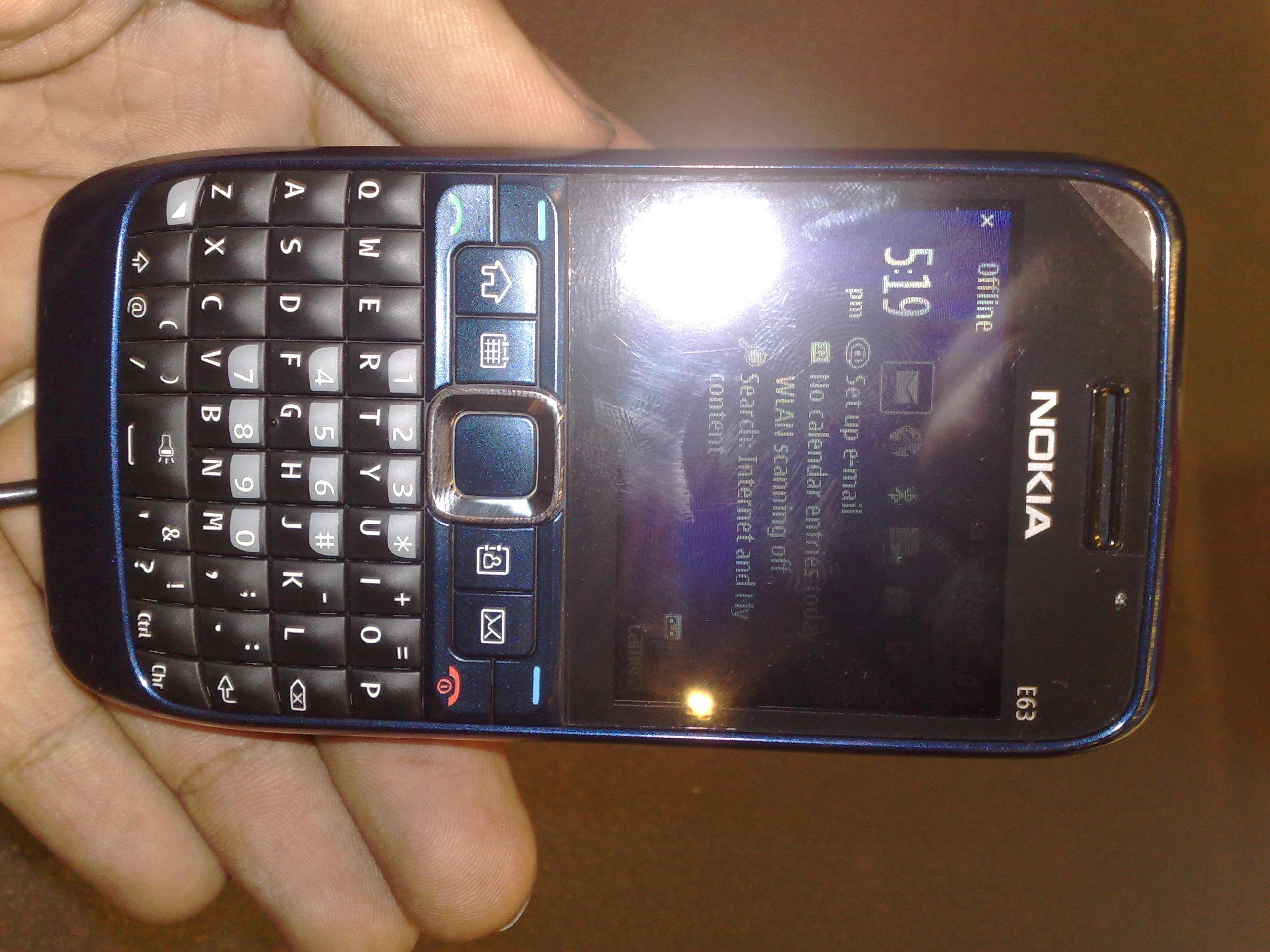 Nokia E63 RF (Radio Frequency) Safe