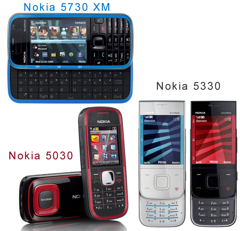 Nokia 5730, 5330, 5030 XpressMusic Phones for 2009 ...