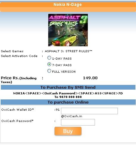 <b>Buy</b> N-Gage <b>Games</b> using Oxicash in India