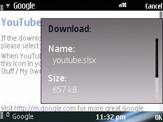 Download Youtube Official App now for you Symbian S60 Phone