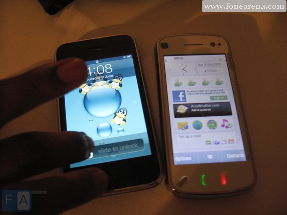 N97 display is Awesome but iPhone is still classy