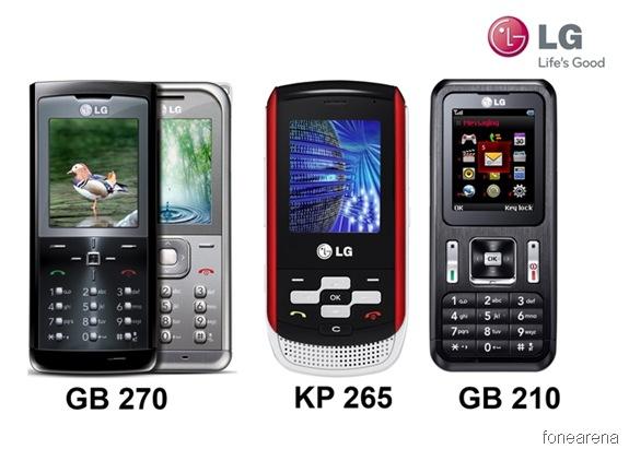lg gb270 applications