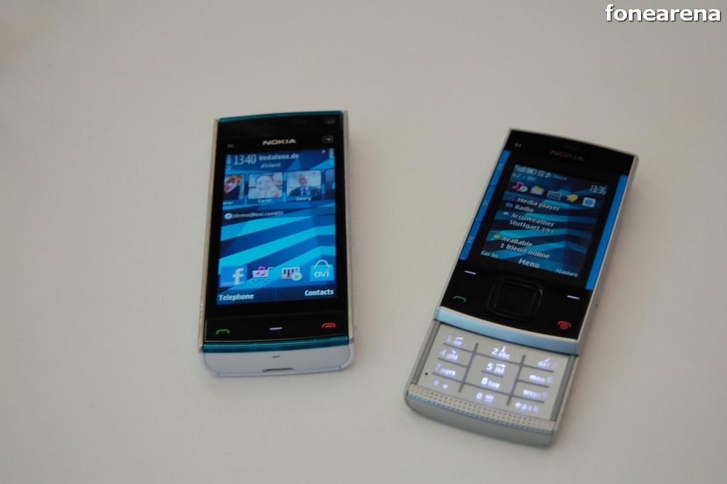 nokia x6 and x3 front
