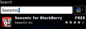 Seesmic For BlackBerry 1