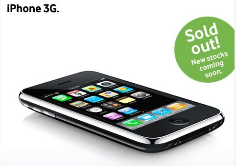 iPhone 3G Sold Out on Vodafone India