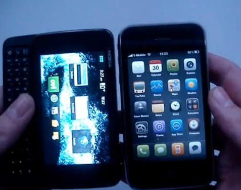 Size Comparison of iPhone 3GS vs Nokia N900