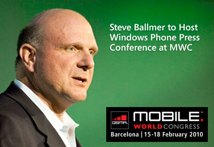 Ballmer keynote speaker at MWC 2010