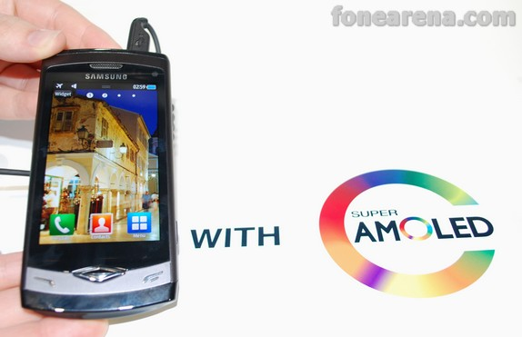 Samsung Super AMOLED playing video , proof of awesome ...
