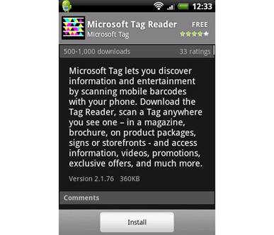 Microsoft-Tag-Android-app