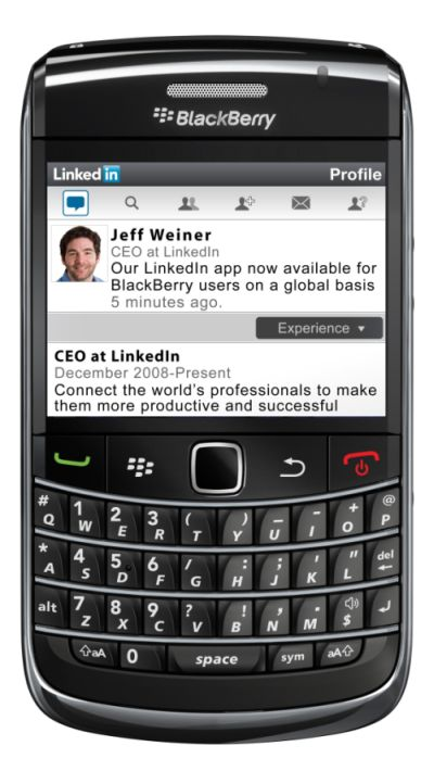 blackberry linkedin app now available for download for free