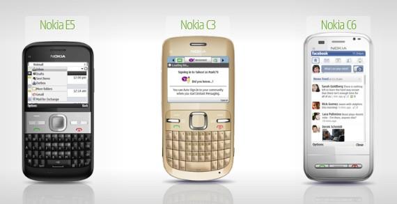 Nokia C3, Nokia C6 and Nokia E5 released