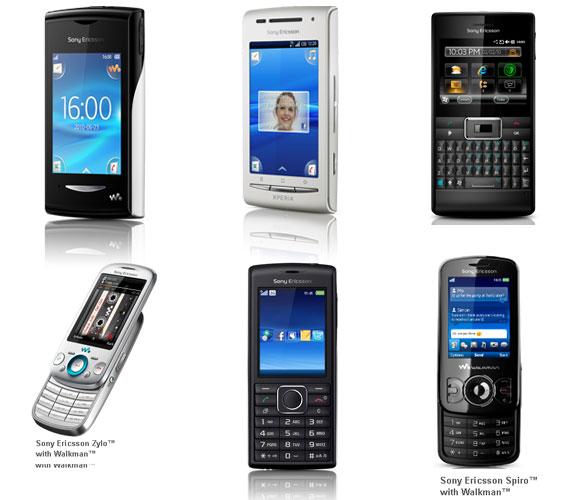 Sony Ericsson launches 6 new Phones in India